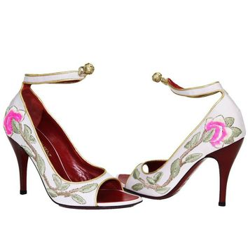 New Tom Ford for Yves Saint Laurent 2004 Collection Embroidered Pumps 36.5- 6.5