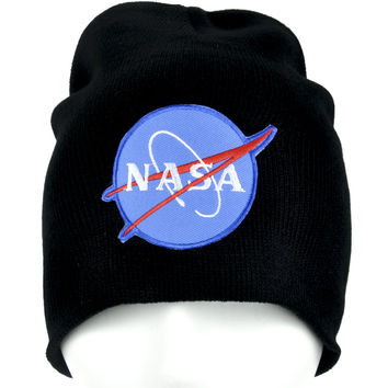 NASA Aerospace Beanie Alternative Clothing Knit Cap
