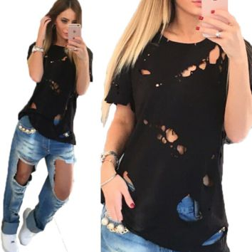 Fashion Round Neck Short Sleeve T-Shirt