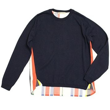 Marni Girls Navy Colorful Pullover