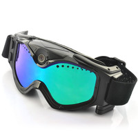 Skiing Goggles With Built-In Action Camera - 720p HD, 130 Degree Wide Angle