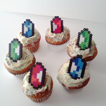 Legend of Zelda Cupcake Toppers (Rupee Set of 12)