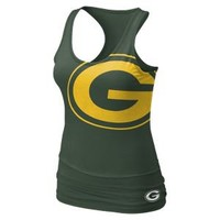Nike Store. Nike Big Logo Tri-Blend (NFL Packers) Women's Tank Top