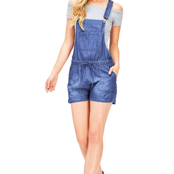 Chambray Short Overalls