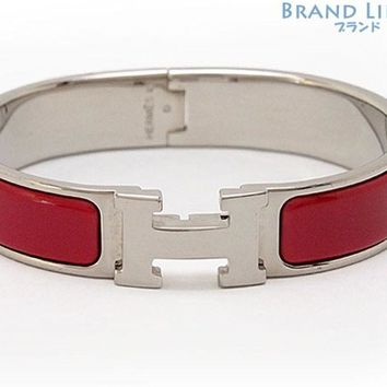 Authentic HERMES Click crack PM H bangle Bracelet H700001F