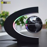 EU/US Plug C Shaped Magnetic Balls Levitation Globe With World Map Home Ornement Business Birthday Gifts Office Bar Decoration
