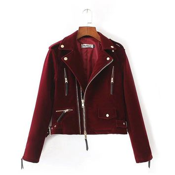 Limited Velvet Moto Jacket - 2 Colors