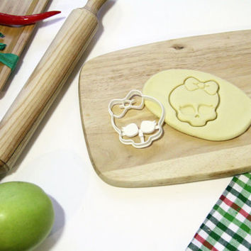 Monster High Cookie Cutter MH Cookie Cutter Cupcake topper Fondant Gingerbread Cutters - Made from Eco Friendly Material