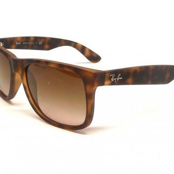 Sunglasses Ray-Ban RB4165 JUSTIN 710/13 RUBBER LIGHT HAVANA Cal.55