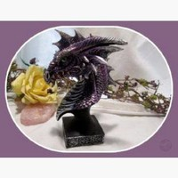 Magical Purple Mist Dragon Head Statue