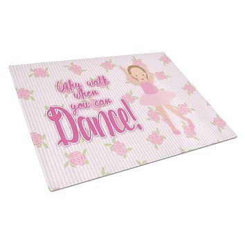 Ballet Brown Short Hair Glass Cutting Board Large BB5385LCB