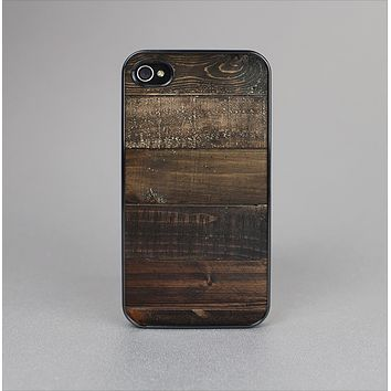The Dark Wooden Worn Planks Skin-Sert Case for the Apple iPhone 4-4s