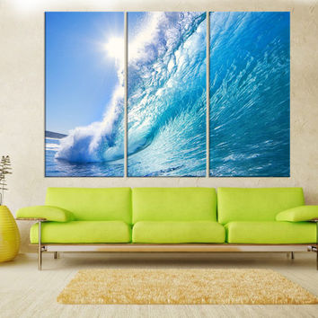 Ocean Waves wall art canvas print extra large wall art, fine art print, large wave canvas art, wall decoration, modern art print  8s30