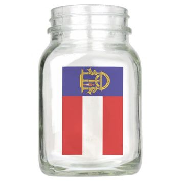 Flag of Georgia Mason Jar