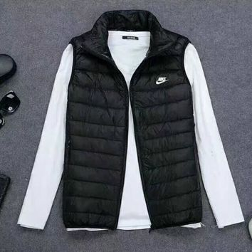 NIKE Zipper Cardigan Sweatshirt Jacket Coat Windbreaker Down Jacket Black I-A001-MYYD One-nice™