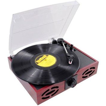 Pyle - Retro Style Turntable With USB-to-PC
