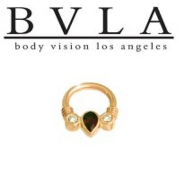 Body Vision BVLA Pear Faraway 14kt Gold Septum Clicker 14g [36-0066 BVLA14ktPearFaraway14g] - $602.99 : Diablo Body Jewelry, The Art of High Quality