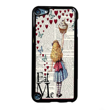 Alice in Wonderland Madhatter Chershire Cat FOR IPOD TOUCH 5 CASE *01*