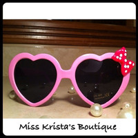 Hello kitty sunglasses black pink bow frame retro vintage heart style sunglasses