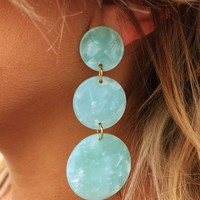 Ocean Treasure Earrings: Mint