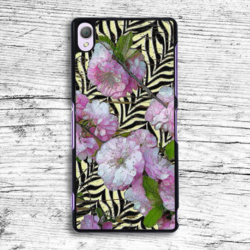 Funky Zebra & Prunus Sony Xperia Case, iPhone 4s 5s 5c 6s Plus Cases, iPod Touch 4 5 6 case, samsung case, HTC case, LG case, Nexus case, iPad cases