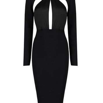 Emma Cutout Detail Long Sleeve Dress