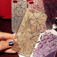 Hot Shining Geometry Case for iPhone 7 7Plus & iPhone se 5s 6 6 Plus Best Protection Cover +Gift Box-534
