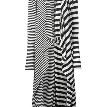 Rundholz Striped Draped Cardigan
