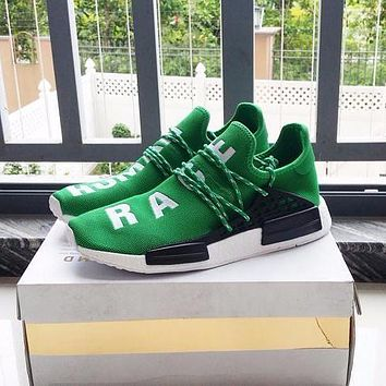 Best Online Sale Pharrell Williams x Adidas Consortium NMD Human Race Green Sport Runn