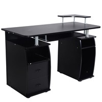 Giantex Office Computer Desk Pc Work Station Furniture Home w/ Monitor&printer Shelf