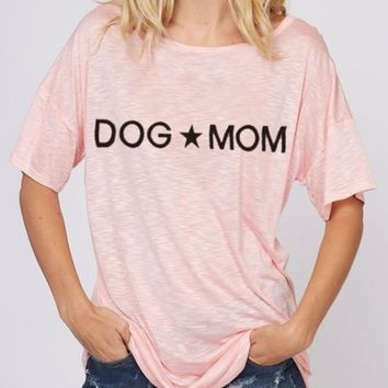 Blush Dog Mom Tee
