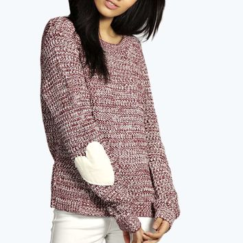 Tracy Harper Heart Elbow Patch Jumper