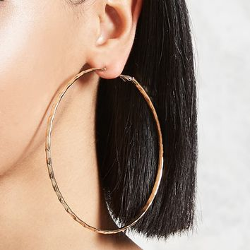 Textured Hoop Earrings - Accessories - 1000166548 - Forever 21 Canada English