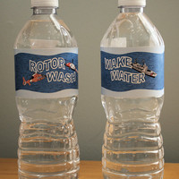 Coast Guard Search and Rescue Water Bottle Labels