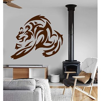 Vinyl Wall Decal Bear Decor Animal Tribal Tattoo Grizzly Mural Stickers Unique Gift (ig029)