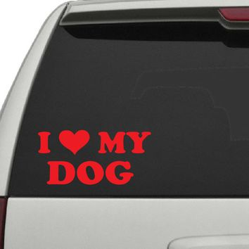 I Heart My Dog Decal - Dog Decals - C2427