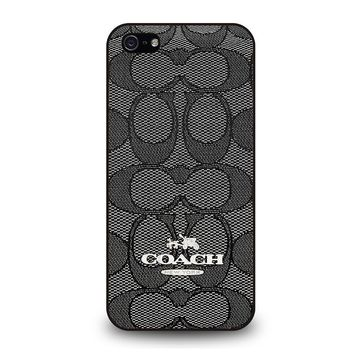 COACH NEW YORK CHARLIE SIGNATURE iPhone 5 / 5S / SE Case Cover
