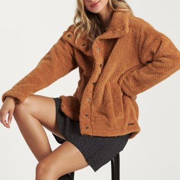 Cozy Days Caramel Sherpa Coat
