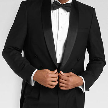 Versini Black Tailcoat Modern Fit Tuxedo - Tuxedos | Men's Wearhouse