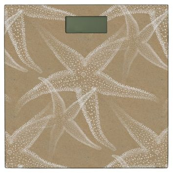Starfish Sand Tan Beach Bathroom Scale