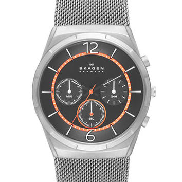 Skagen Denmark Mens Melbye Chronograph Watch with Mesh Bracelet