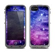The Purple and Blue Scattered Stars Skin for the Apple iPhone 5c LifeProof frē Case