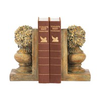 Pair Floral Urn Bookends