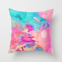 Dawn Light Throw Pillow by Amy Sia