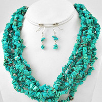 Chunky Chunky Turquoise Necklace