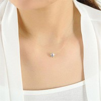 ac spbest Hot Choker Invisible Fish Line Crystal Necklace Neck Zircon Women Clavicle Chain Lady Feminino Collar