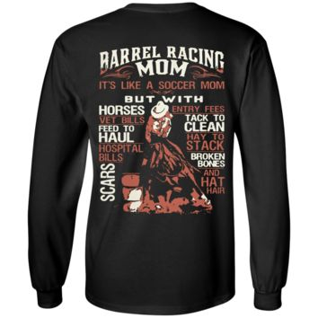 Barrel Racing Mom LS Ultra Cotton T-Shirt