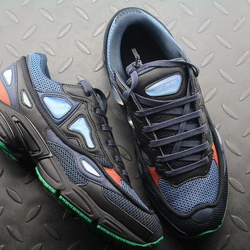 Raf Simons x Adidas Consortium Ozweego 2 Midnight Black/ Blue/Red Sneakers