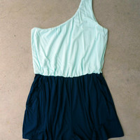 Houseboat Romper in Sea [5622] - $36.00 : Vintage Inspired Clothing & Affordable Dresses, deloom | Modern. Vintage. Crafted.