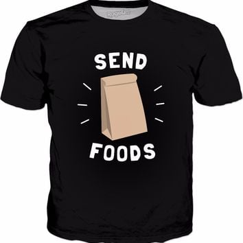 Send Foods T-Shirt - Funny Send Noods Takeaway Fast Food